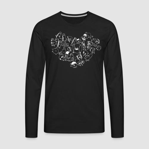 Inanimate Heart White - Men's Premium Long Sleeve T-Shirt