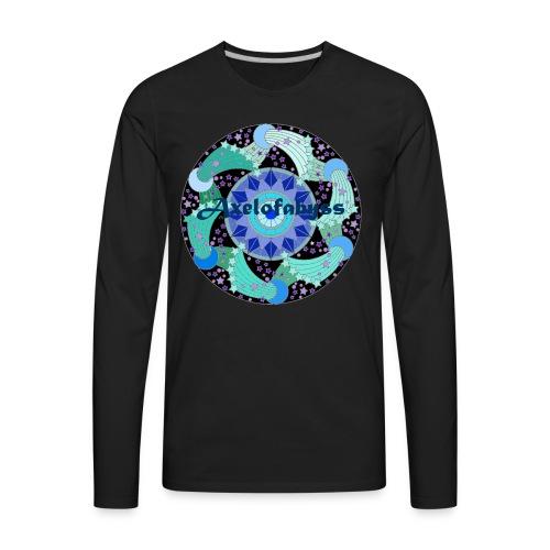 Axelofabyss The Ocean Moon - Men's Premium Long Sleeve T-Shirt