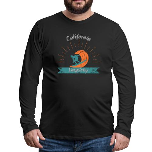 California Simplicity - Men's Premium Long Sleeve T-Shirt