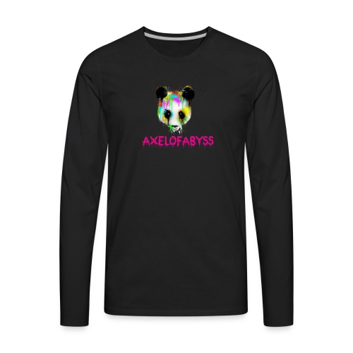 Axelofabyss panda panda paint - Men's Premium Long Sleeve T-Shirt