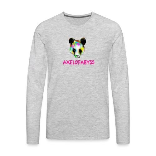 Axelofabyss panda panda paint - Men's Premium Long Sleeve T-Shirt