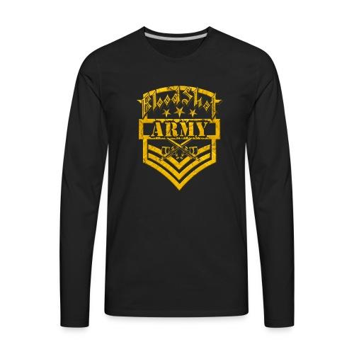BloodShot ARMY Logo - Men's Premium Long Sleeve T-Shirt