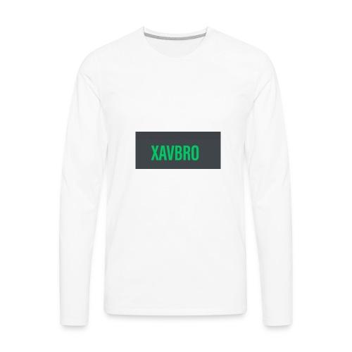 xavbro green logo - Men's Premium Long Sleeve T-Shirt
