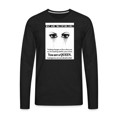Fix your crown Queen - Men's Premium Long Sleeve T-Shirt