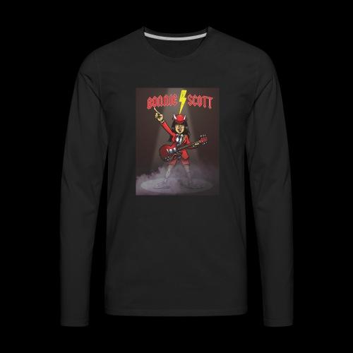 Bonnie Scott Band T Shirt - Men's Premium Long Sleeve T-Shirt