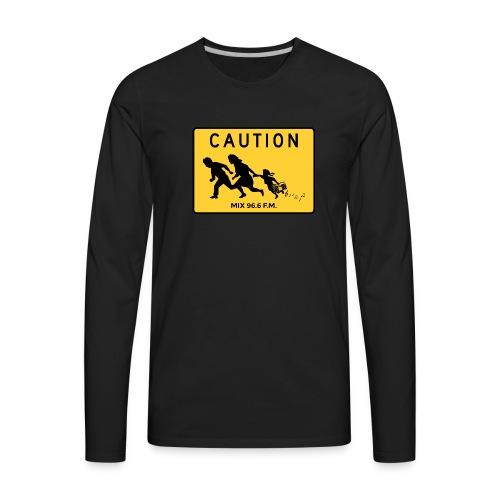 CAUTION SIGN - Men's Premium Long Sleeve T-Shirt