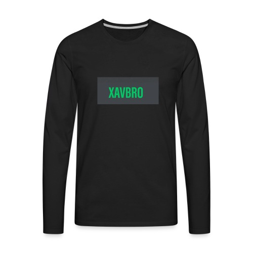 xavbro green logo - Men's Premium Long Sleeve T-Shirt
