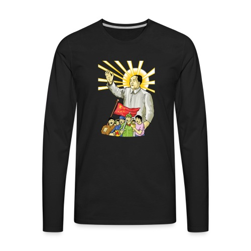 Mao Waves to the People - Men's Premium Long Sleeve T-Shirt