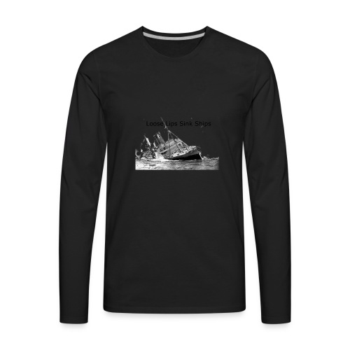 Enron Scandal Joke - Men's Premium Long Sleeve T-Shirt