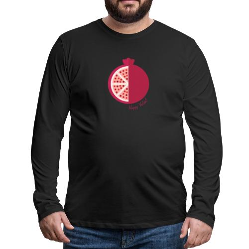 Happy yalda Pomegranate - Men's Premium Long Sleeve T-Shirt