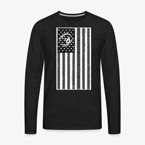 Tattered LS6 Theater Flag - Men's Premium Long Sleeve T-Shirt