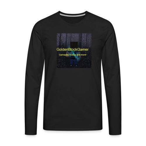 GoldenBlockGamer Tshirt - Men's Premium Long Sleeve T-Shirt