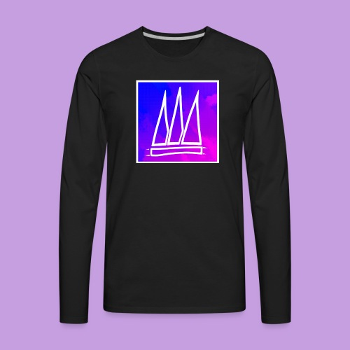 Abstract Banner - Men's Premium Long Sleeve T-Shirt