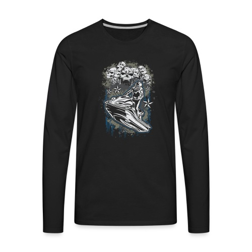 Jet Ski Skull Bunch - Men's Premium Long Sleeve T-Shirt