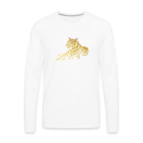 Gold Tiger - Men's Premium Long Sleeve T-Shirt