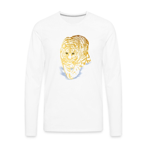 Golden Snow Tiger - Men's Premium Long Sleeve T-Shirt