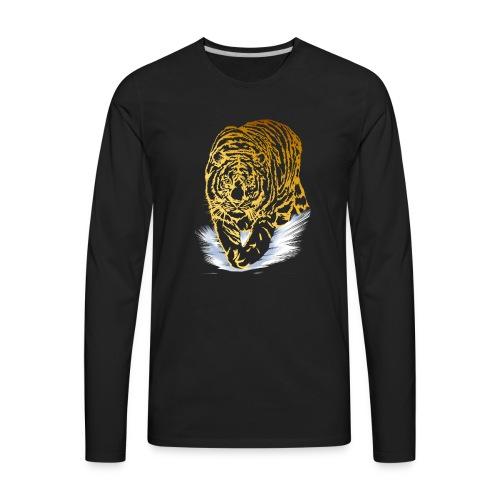 Golden Snow Tiger - Men's Premium Long Sleeve T-Shirt