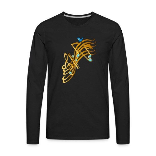 Golden Notes - Men's Premium Long Sleeve T-Shirt