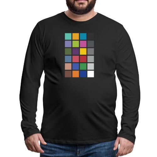 Photographer's Color Checker tee - Men's Premium Long Sleeve T-Shirt