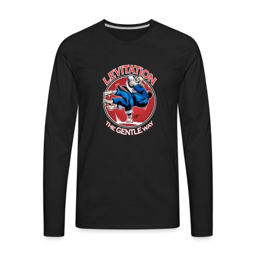 Judo Levitation for dark shirt - Men's Premium Long Sleeve T-Shirt