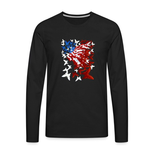 The Butterfly Flag - Men's Premium Long Sleeve T-Shirt