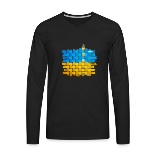 Weave Ukrainian flag - Men's Premium Long Sleeve T-Shirt