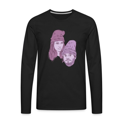 Hila and Ethan from h3h3productions - Men's Premium Long Sleeve T-Shirt