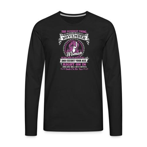A November Woman Tee - Men's Premium Long Sleeve T-Shirt