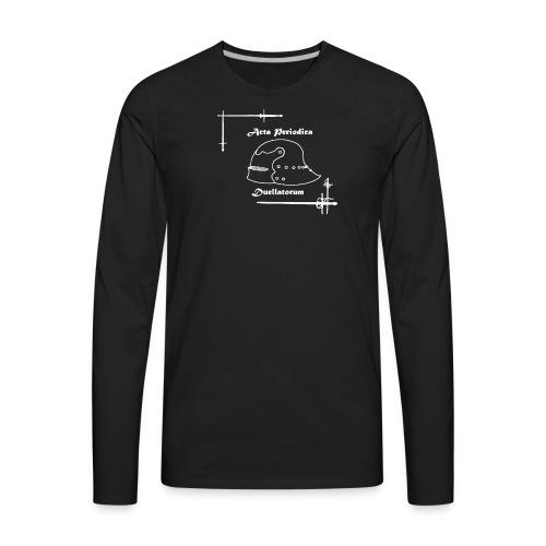 APD logo White - Men's Premium Long Sleeve T-Shirt