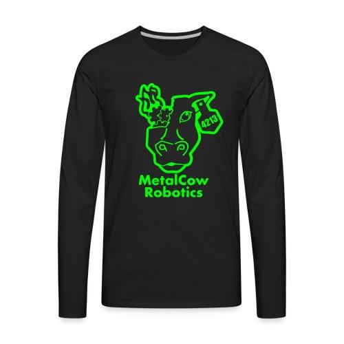 MetalCowLogo GreenOutline - Men's Premium Long Sleeve T-Shirt