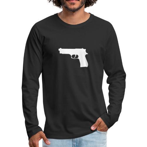 Semi-automatic Handgun Silhouette - Men's Premium Long Sleeve T-Shirt