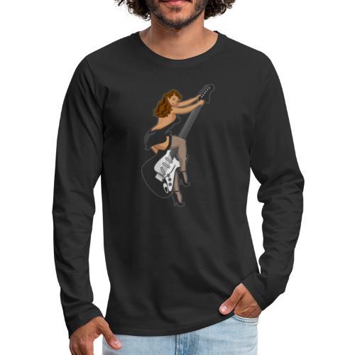 Guitar Pinup Girl - Men's Premium Long Sleeve T-Shirt