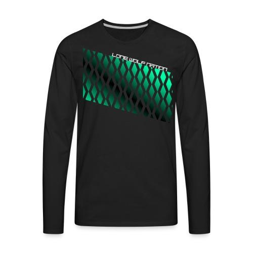 Diamond Pattern By Lone Wolf Nation - Men's Premium Long Sleeve T-Shirt