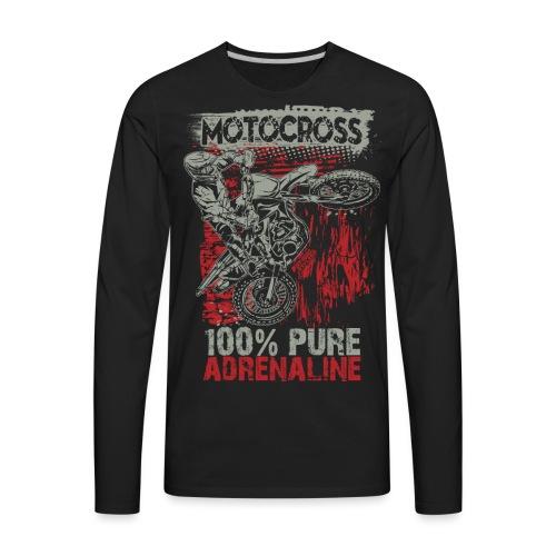 Motocross Pure Adrenaline - Men's Premium Long Sleeve T-Shirt