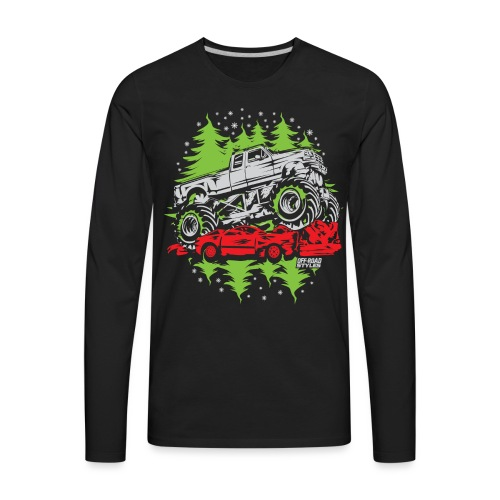 Ugly Christmas Monster - Men's Premium Long Sleeve T-Shirt