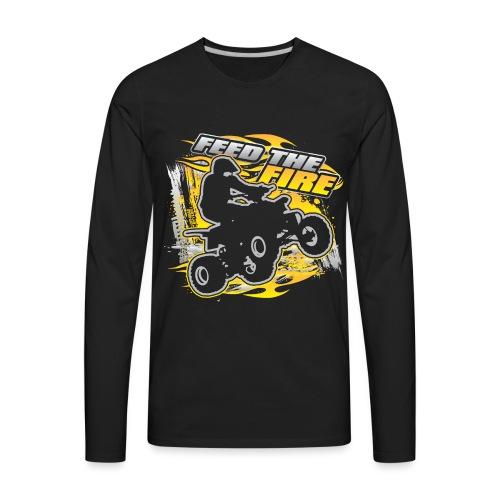 ATV Quad Feed the Fire - Men's Premium Long Sleeve T-Shirt