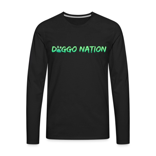 DoggoNation Logo - Men's Premium Long Sleeve T-Shirt