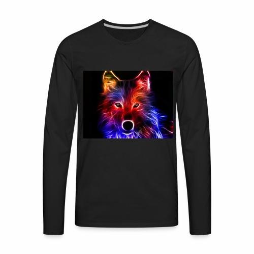 fire wolf - Men's Premium Long Sleeve T-Shirt