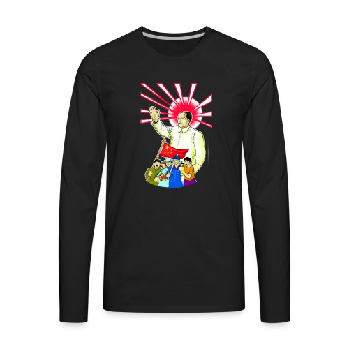 Mao Waves To His Supporters - Men's Premium Long Sleeve T-Shirt