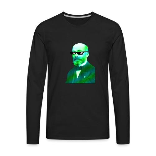 Green and Blue Zamenhof - Men's Premium Long Sleeve T-Shirt