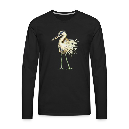 Great Blue Heron - Men's Premium Long Sleeve T-Shirt