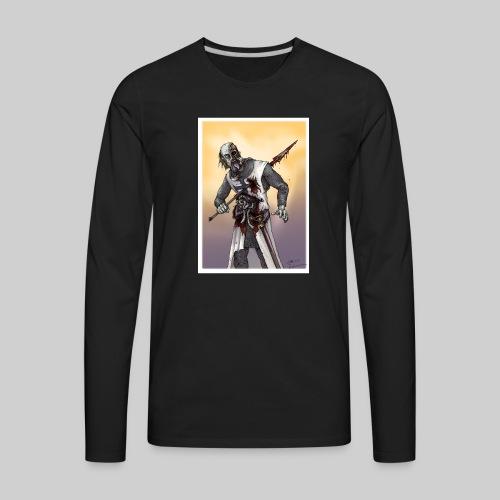 Zombie Crusader - Men's Premium Long Sleeve T-Shirt