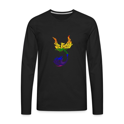 Rainbow Phoenix - Men's Premium Long Sleeve T-Shirt