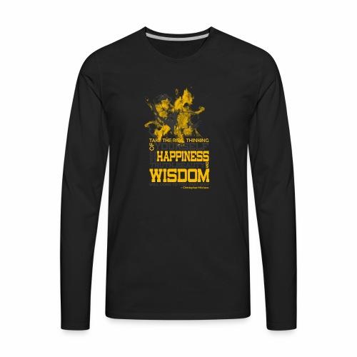 Happiness and Wisdom - Men's Premium Long Sleeve T-Shirt
