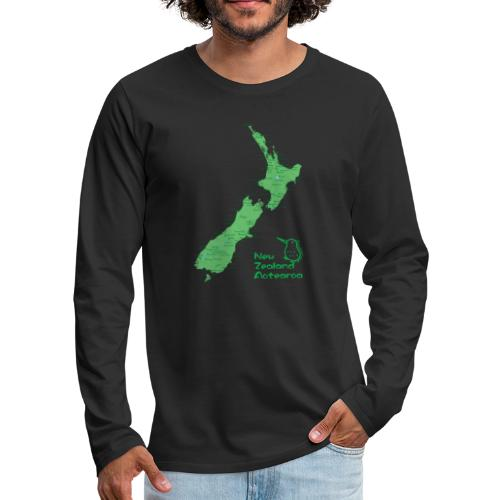 New Zealand's Map - Men's Premium Long Sleeve T-Shirt