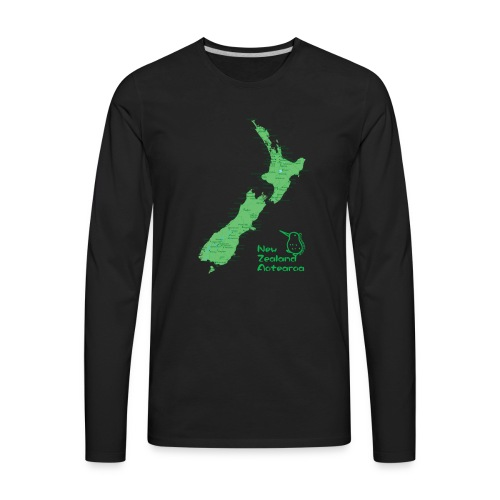 New Zealand's Map - Men's Premium Long Sleeve T-Shirt