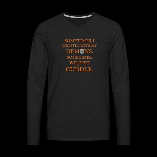 Demon Cuddles - Men's Premium Long Sleeve T-Shirt