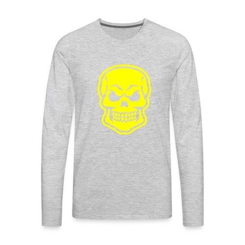 Skull vector yellow - Men's Premium Long Sleeve T-Shirt