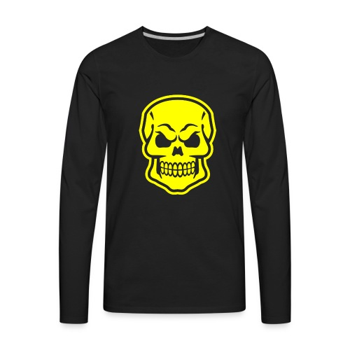 Skull vector yellow - Men's Premium Long Sleeve T-Shirt