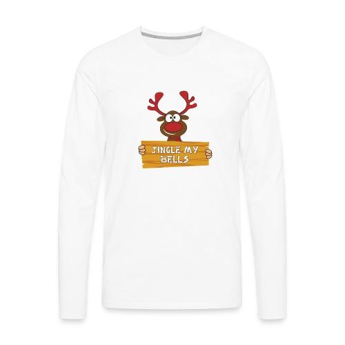 Red Christmas Horny Reindeer 1 - Men's Premium Long Sleeve T-Shirt